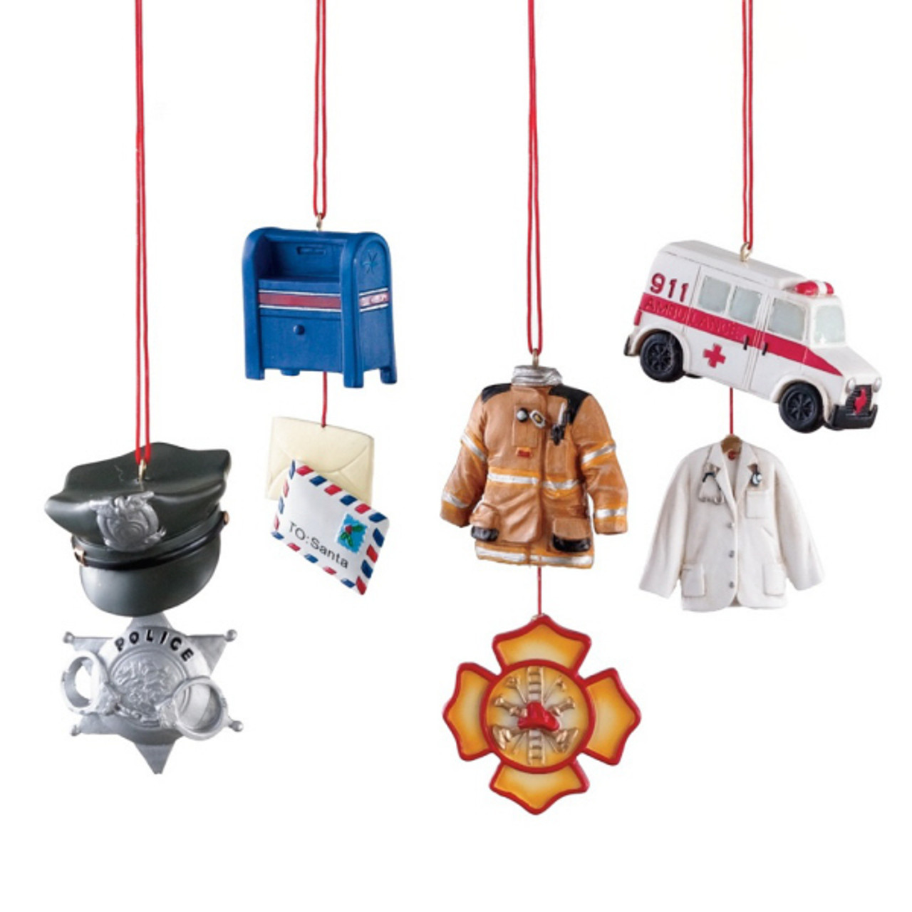 Police Christmas Ornaments.Police Emt Fire Fighter Or Postal Worker Profession Christmas Ornament 102329