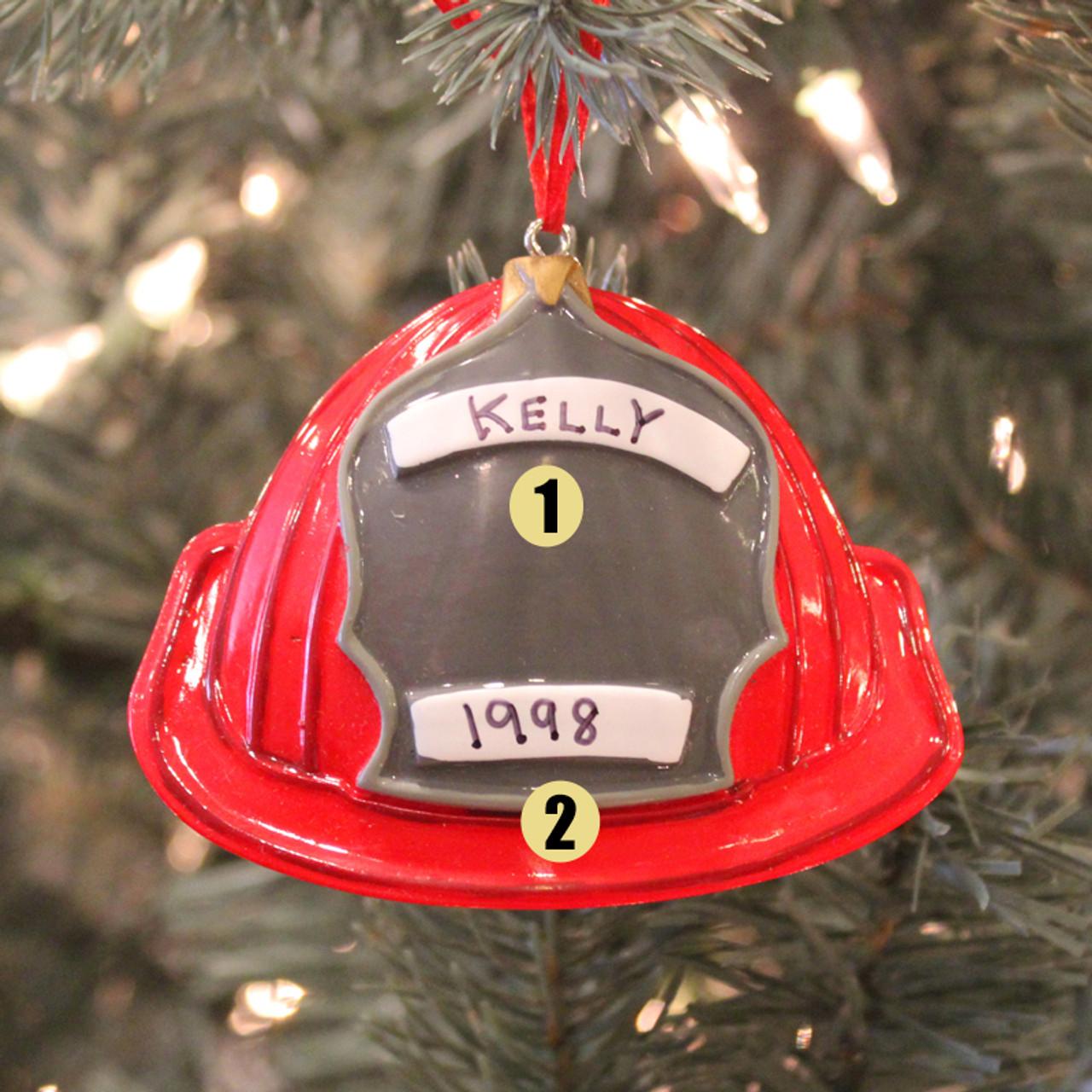 Fireman Personalized Christmas Tree Ornament