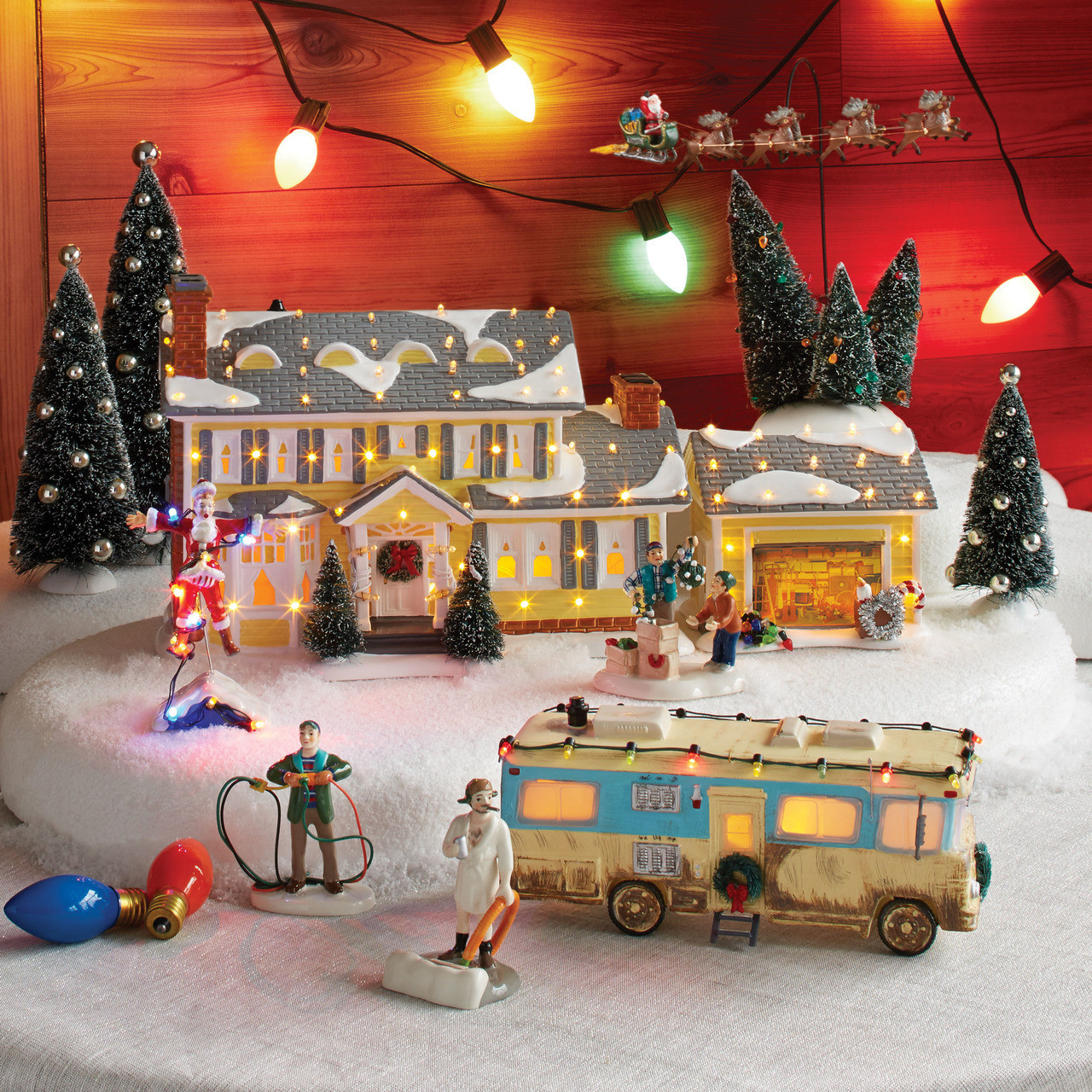 Christmas Vacation House Lights.Department 56 Christmas Vacation The Griswold S Holiday House Garage