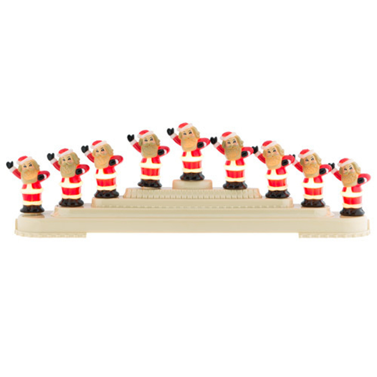 Christopher Radko Shiny Brite Holiday Splendor Santa Bubble Light Candolier Christopher Radko Shiny Brite Shiny Brite Candolier Santa Light Vintage Inspired Christmas Decor