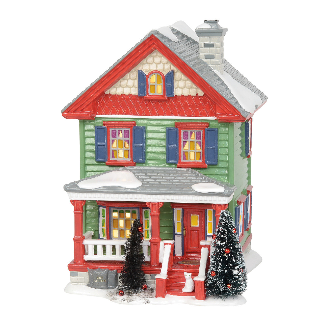 Christmas Houses Village.Department 56 Christmas Vacation Village Aunt Bethany S House Building 6003132