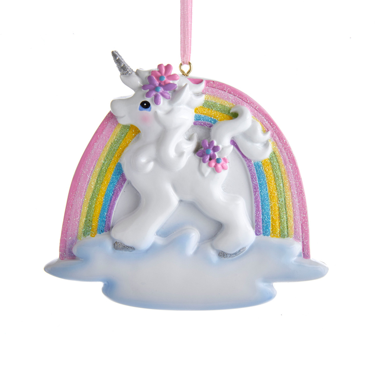 "Rainbow Unicorn Horse Cookie Ornament Set 3 Christmas  3.5/"" Clay-dough"