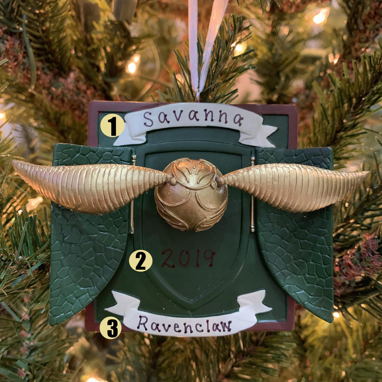 Hallmark 3 Harry Potter Golden Snitch Personalized Christmas Ornament Hallmark Christmas Christmas Ornament Unique Christmas Ornament Harry Potter Christmas Ornament Personalized Christmas Ornament