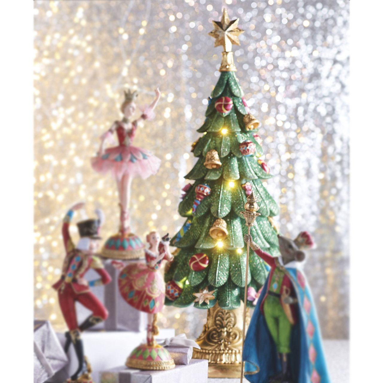 Raz 24 Battery Operated Musical Lighted Christmas Tree Figure Imports Home Deco Decor