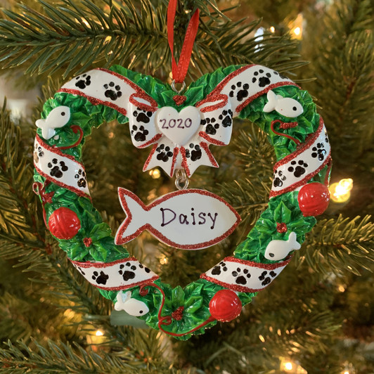 Bark The Halls Dog Frame Personalized Christmas Ornament
