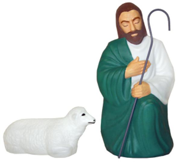 Blow Mold Life Size Christmas Nativity 10pc Set