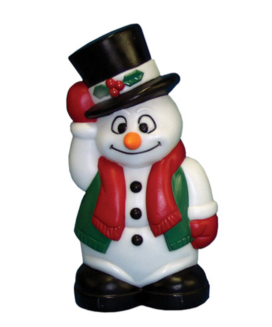 "18"" Blow Mold Snowman Lighted Christmas Decoration C3582"