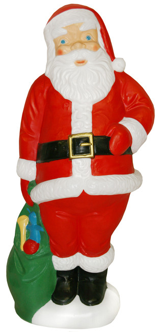 "60"" Large Santa with Green Bag Christmas Blow Mold C952"