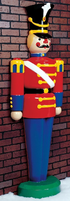 6' Live Form Standing Half Toy Soldier Outdoor Christmas Decoration
