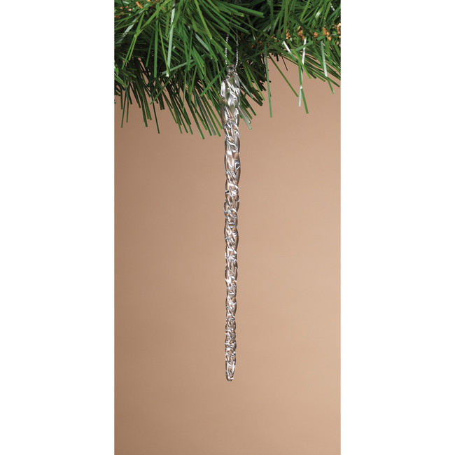 "20 Pack of 4.9"" Spun Glass Icicle Christmas Ornaments 2156800"