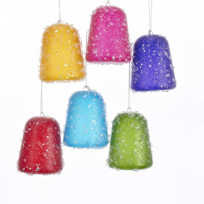 "Kurt Adler Set of 6 3.5"" Multi Color Gum Drop Christmas Ornament J8188"