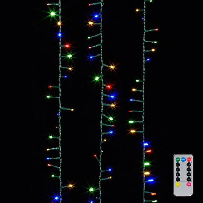 Raz 8 Function Multi Color LED 73' Christmas Snake Compact 1000 Lights G3737057