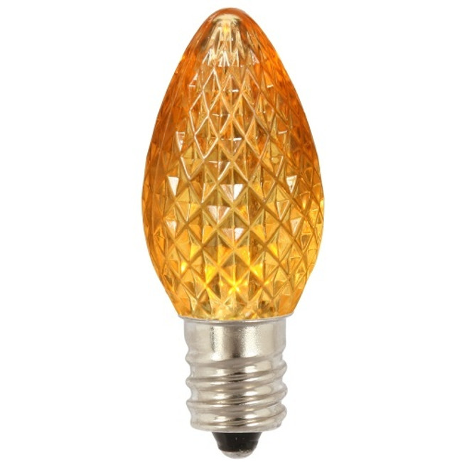 Brite Star 25 ct Orange LED C7 Replacement Christmas Light Bulb BS-44-128-93