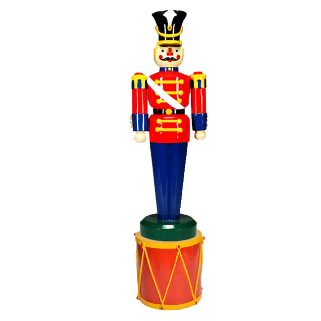 Barcana Commercial Full Body Outdoor Large Toy Soldier with  Drum Stand 55-24015-118