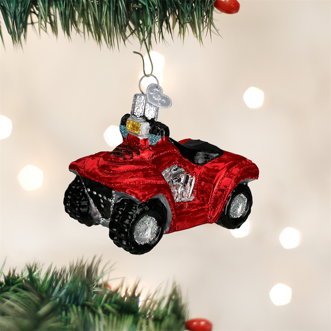 Old World Christmas Four Wheeler Glass Ornament 46035
