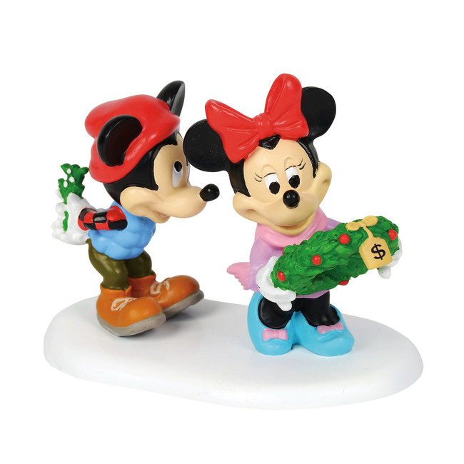 Department 56 Disney Christmas Village Mickey's Mistletoe Surprise Figure 4059719