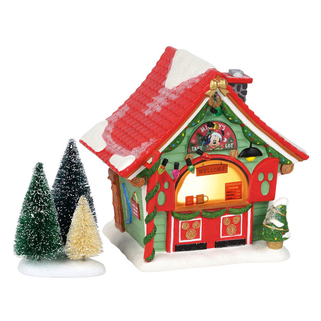 Department 56 Disney Christmas Village Mickey's Tree Lot Building 4059627