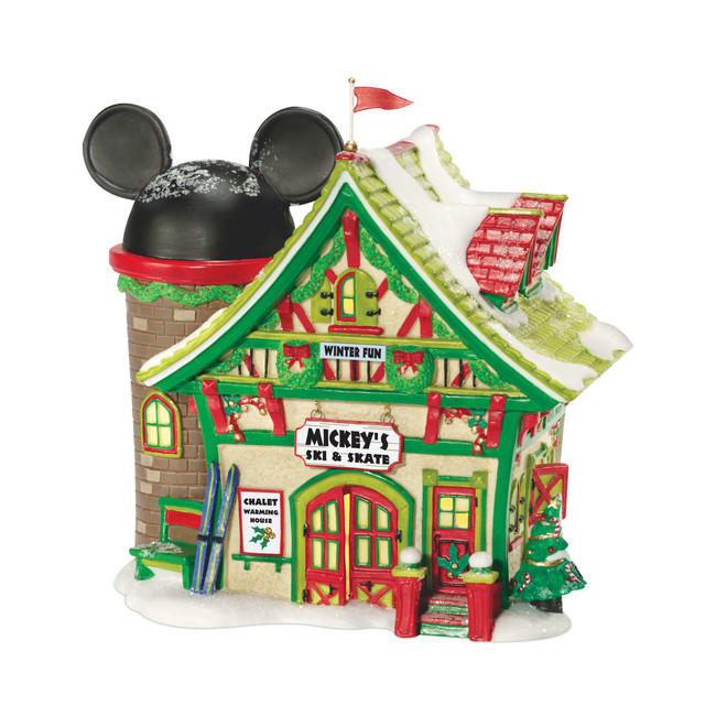Department 56 Disney Christmas Village Mickey's Ski and Skate Building 811263
