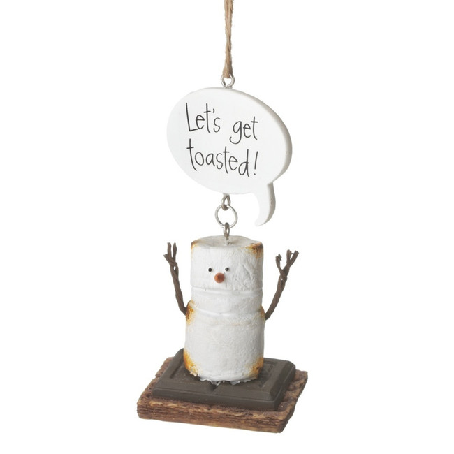 "4"" Let's Get Toasted S'mores Christmas Ornament 111730"