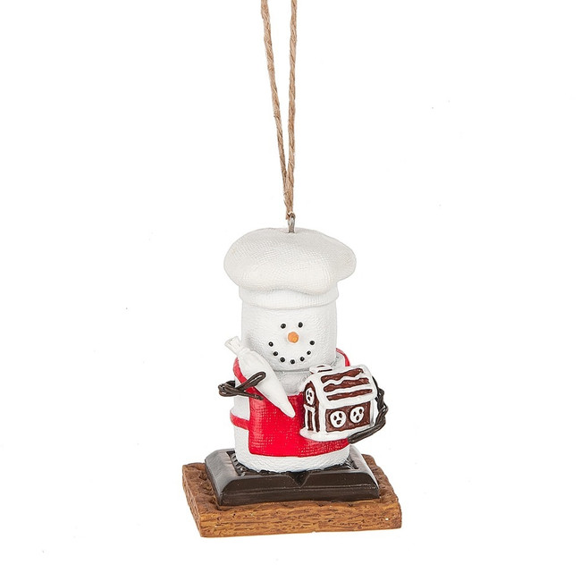 "3"" S'mores with Gingerbread House Christmas Ornament 133408"