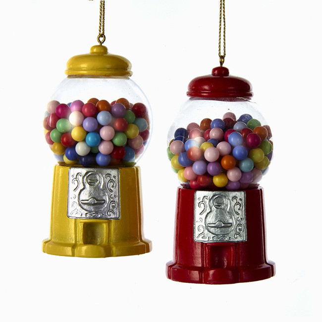 "Kurt Adler 3.5"" Gumball Machine Christmas Ornament A1716"