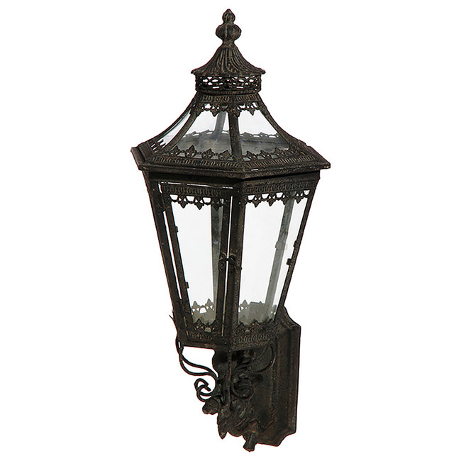 "Raz 25"" Black Metal Wall Mount Lantern 3732285"