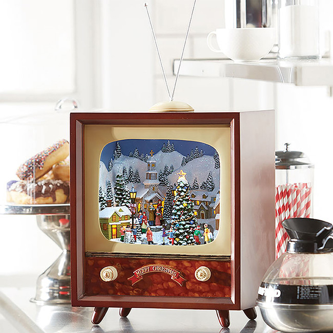 "Raz 22"" Musical Animated Retro Television Christmas Figure 3816449"