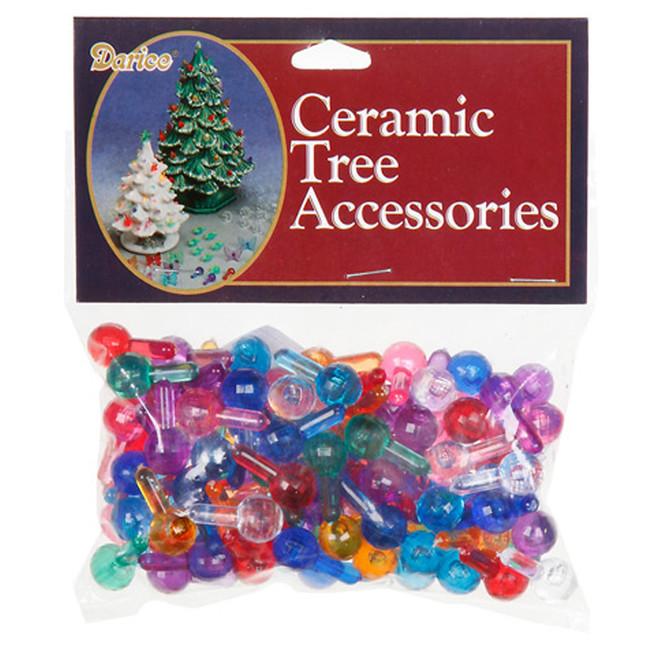 "100 Pack 5/8"" Multi Color Ceramic Tree Plastic Globe Replacement Light Bulbs P0670"