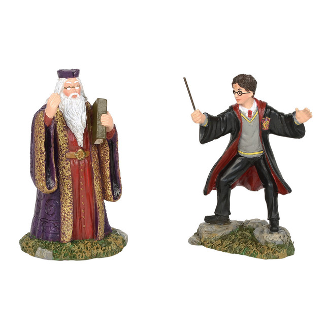 Department 56 Harry Potter Village Harry and The Headmaster Figure Set of 2 6002314
