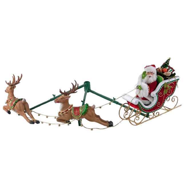 Katherine's Collection Night Before Christmas Santa in Sleigh with Reindeer Tree Accessory 28-828322