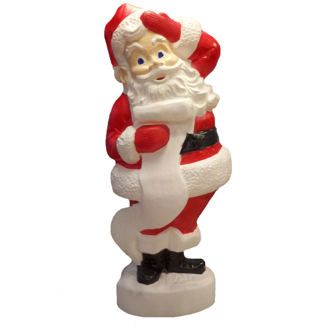 "43"" Large Santa Blow Mold Outdoor Christmas Decor 75180"