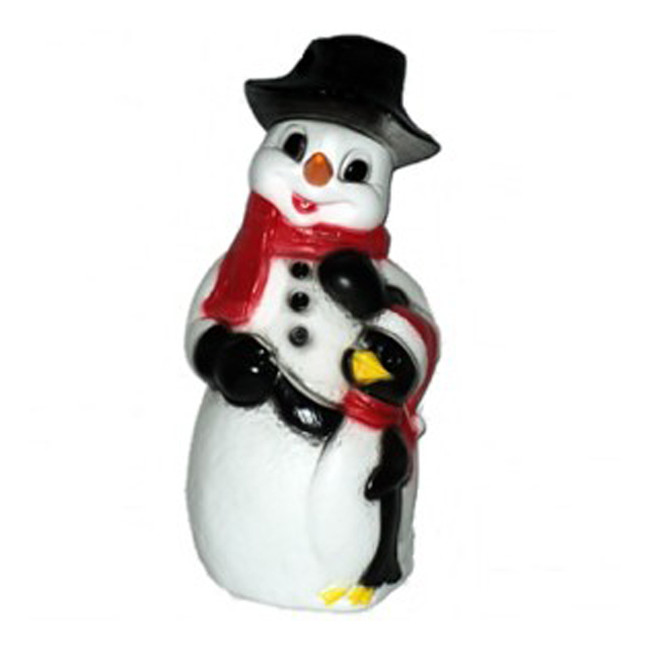 "31"" Snowman and Penguin Blow Mold Outdoor Christmas Home Decor 75305"