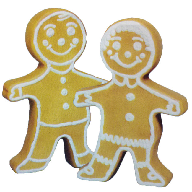 "24"" Double Sided Gingerbread Blow Mold Outdoor Christmas Decor 75560"