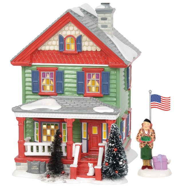 Department 56 Christmas Vacation Village Aunt Bethany and House Set