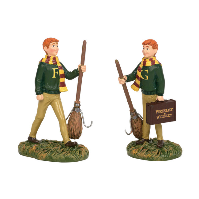Department 56 Harry Potter Village Fred and George Weasley Figure 6003332