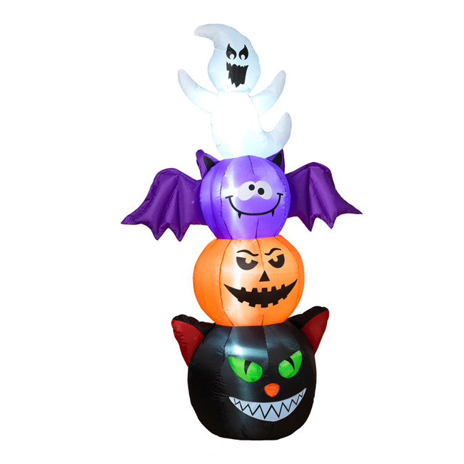"72"" Electric Inflatable Halloween Character Totem Pole Outdoor Decoration 2493320"
