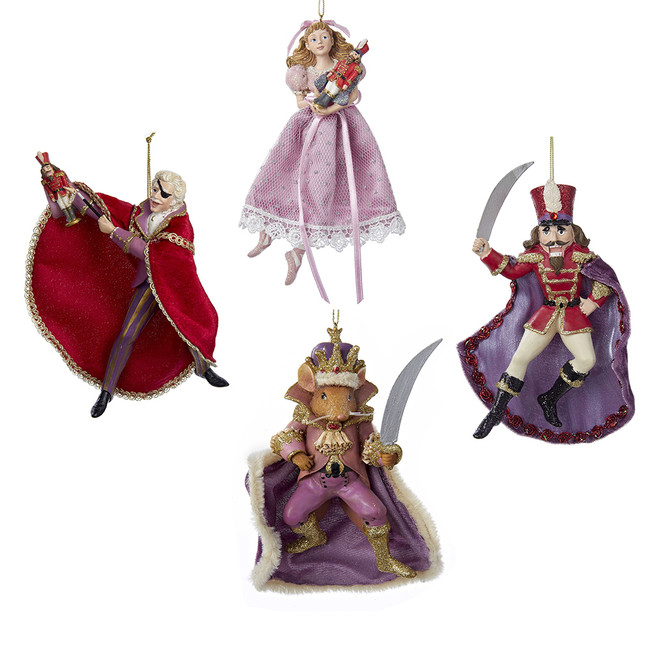 "6.7"" The Nutcracker Suite Set of 4 Christmas Ornaments C7172"