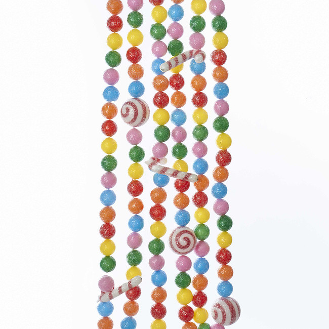 9' Candy Cane Gumball Christmas Tree Garland H2047