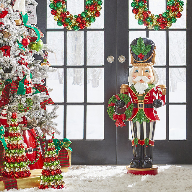 "Raz 43.5"" Standing Nutcracker Christmas Figure 3901681"