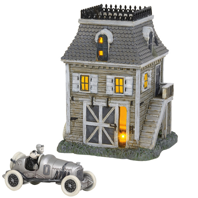 Department 56 Addams Family Midyear Set Carriage House and Thrill Seeking With Fester 2 Piece Set 6004825SET