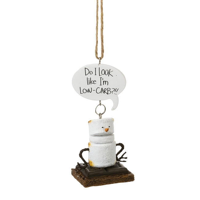 "4"" Toasted Low Carb S'more Christmas Ornament 164728"