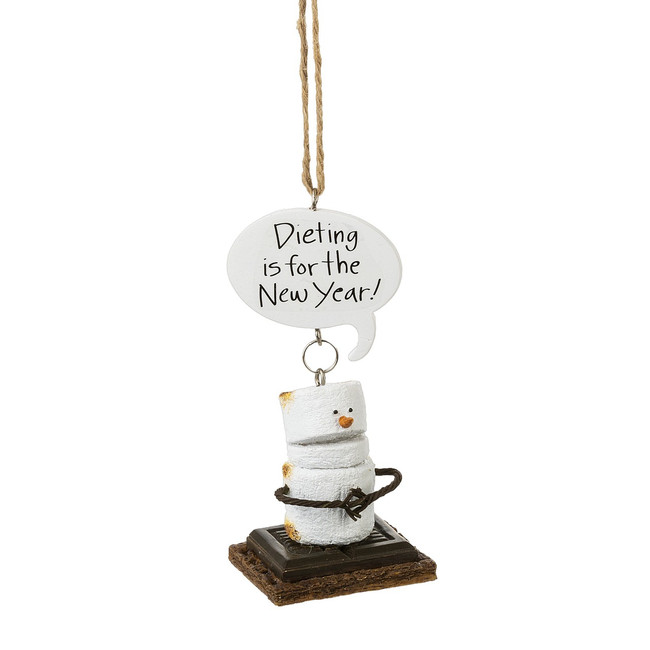 "4"" Toasted Dieting S'more Christmas Ornament 164737"