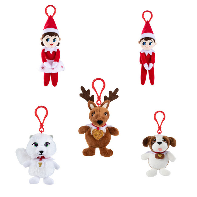 "Elf On The Shelf 4"" Mini Clip On Plushee Pal Christmas Ornaments PPMINICLIP"