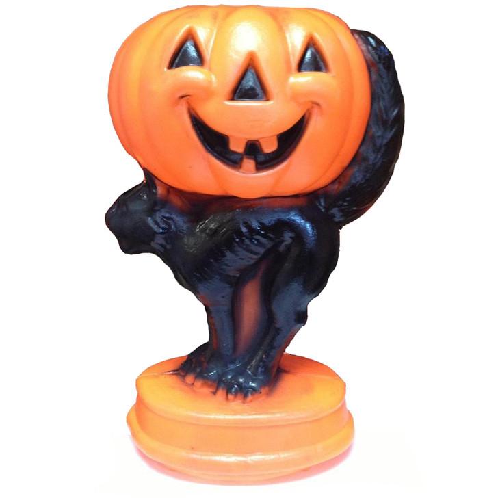 Pumpkin and Black Cat Blow Mold H3077
