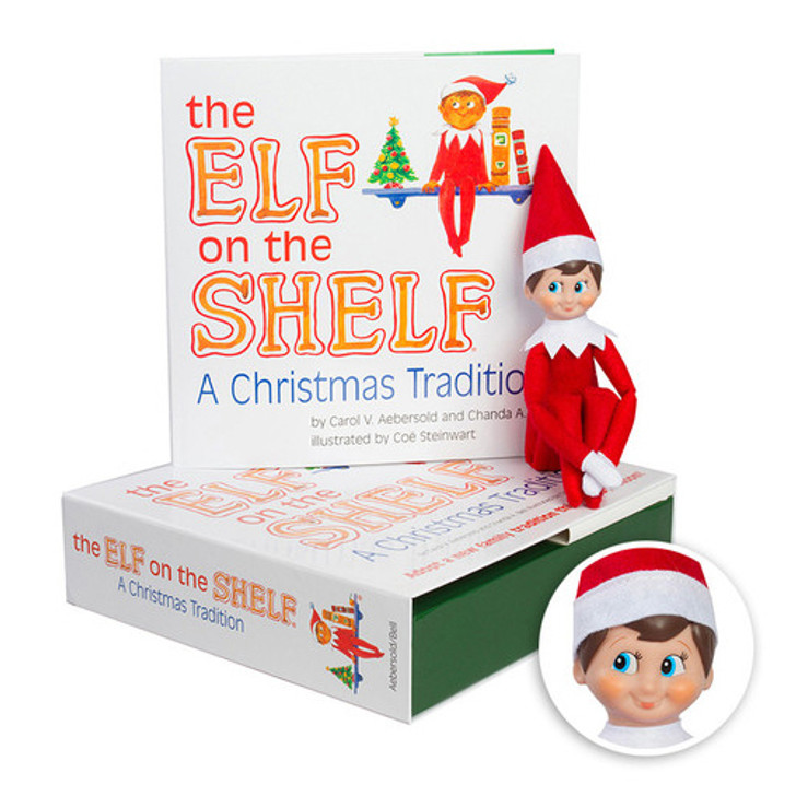 The Elf on the Shelf®: Et juletraditionelt sæt inkluderer drengespeidersalve m / lys hud