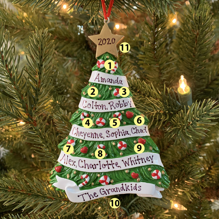 Personalized Grandma's Tree Ornament -2
