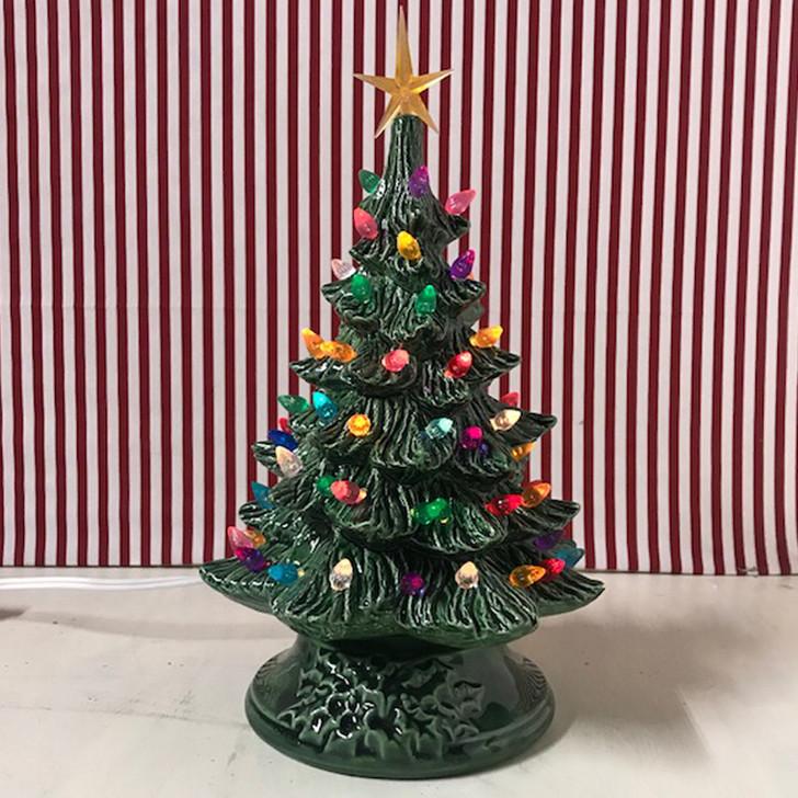 "Ceramic Lighted Christmas Tree 12"""