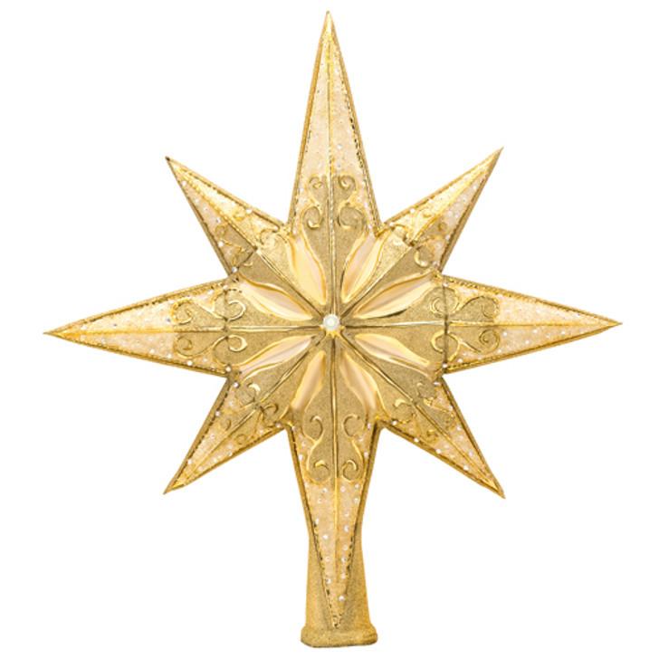 Christopher Radko Golden Radiance Glass Christmas Tree Topper 1017492