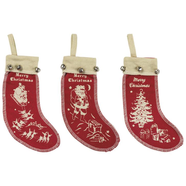 Primitives Af Kathy Vintage Felt Stocking Ornament 1024