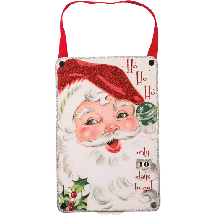 Primitives By Kathy Ho Ho Ho Wooden Christmas Countdown 32274